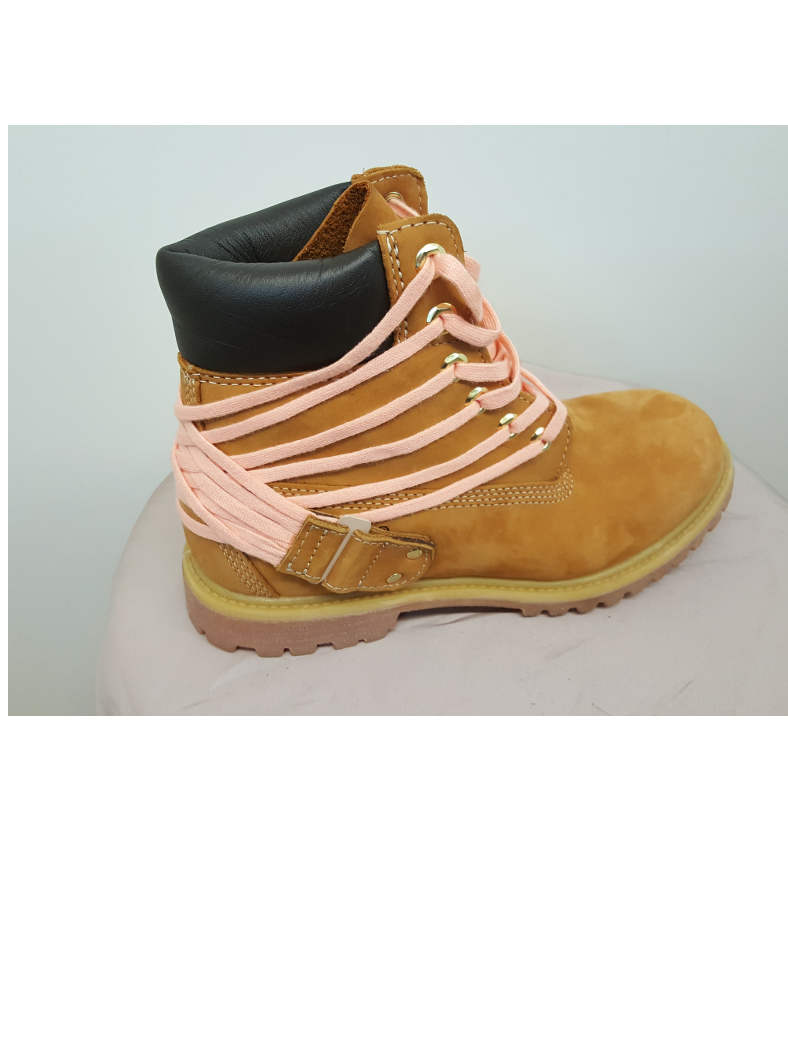 Timberland boots roze veters ltm ed. La Fille D'O