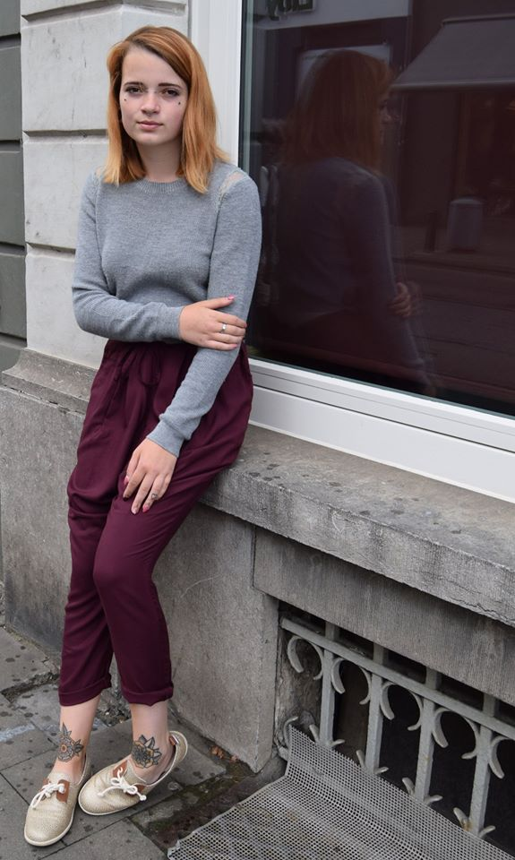 bordeaux losse broek